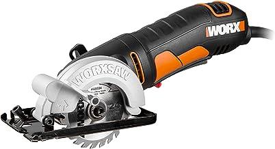 WORX Sierra circular de 400 W WORXSAW WX423.1 85 mm, 27 mm máx, adaptador de extracción, manejo cómodo, hojas de sierra para cortar madera, metal, azulejos, placas de yeso y plásticos