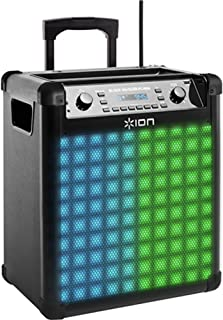 Ion Audio Block Rocker Max-Wireless Rechargeable Speaker with Dynamic Multi-Color Lighting Flash