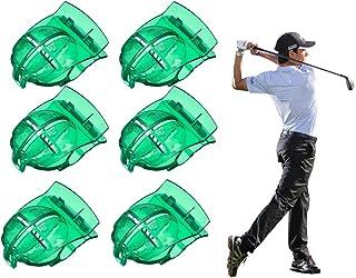 6パックゴルフボールラインマーカーツール-ゴルフデッサンマーキングアライメントパッティングアライメントクリップアウトドアスポーツゴルフトレーニングアクセサリー