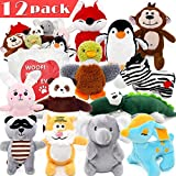 SHARLOVY Dog Squeaky Toys for Small Dogs,Stuffed Animal Puppy Toys,Cute Puppy Chew Toys for Dog Teething Toys, Pet Toys for Small to Medium Dogs,Soft Dog Toys,Plush Dog Toy Pack 12 in Carry Bag