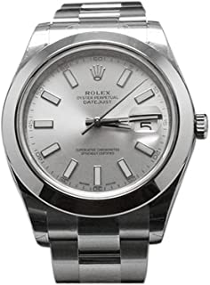 NEW Rolex Datejust II Stainless Steel Silver Dial Mens watch 116300 SIO