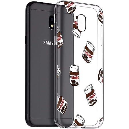 Zhuofan Plus Coque Samsung Galaxy J3 2017, Silicone Transparente avec Motif Design Antichoc Housse de Protection TPU 360 Bumper Souple Case Cover pour ...