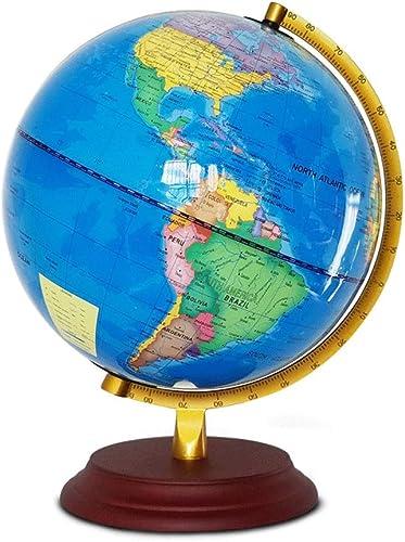 Globus Home Office Schreibtischdekorationen Interaktiv P gogisch Schwenkbar Desktop Globus Licht Geschenk Durchmesser 25cm Weltkarte-Lehr-Tool (Farbe   Blau, Größe   25cm)