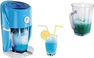 Picadora de hielo eléctrica y máquina para granizados 2 en 1, para hielo grueso y