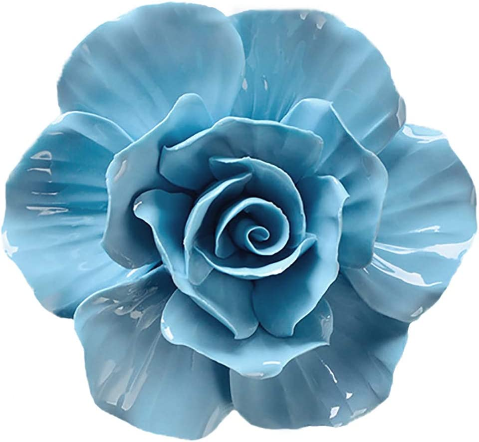ALYCASO Rose Free shipping Ceramic Flower Wall OFFicial site Décor 3D Artificial W