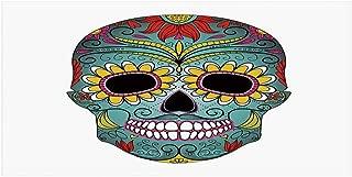 MOOCOM Sugar Skull Decor Stylish Floor Sticker