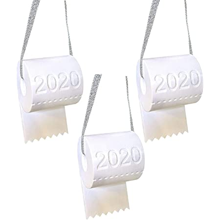 Collifun Christmas Tree Ornaments 2020 Toilet Paper Christmas Decorations 1 PC Christmas Hanging Ornaments Holiday Decor Creative Blessing Gifts for Family Friend