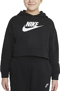 Nike G NSW Club Ft Crop Hoodie Hbr Sweatshirt Fille