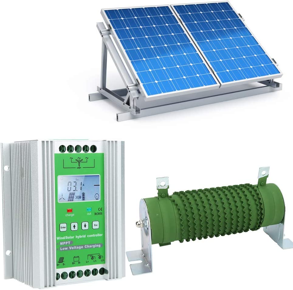 Filfeel ?????????????????? Boost Typ Mppt Ladungsverstärkungsregler Lcd Display Wind Solar Hybrid Controller Mit Entladewiderstand Jw2430 Garten
