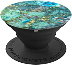 Faux Blue And Green Turquoise Marble Veins Art So Pretty - PopSockets Grip and Stand for Phones and Tablets