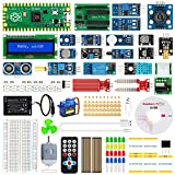 Raspberry Pi Pico Sensor Kit STUUC Kit de Aprendizaje de programación MicroPython con Tutorial con Chip RP2040 Procesador Arm Cortex M0 + @ 133MHz Compatible con C/C ++ / Micro-Python(46 Piezas )