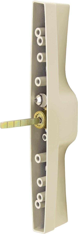 """3-15//16/"""" Screw Holes 1-1//2/"""" Door Thickness Tan Keyed Veranda Sliding Glass Door Handle Set"""