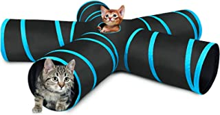 猫 トンネル 猫 おもちゃ キャットトンネル 5つ道 猫用品 ねこのおもちゃ 折りたたみ式 うさぎおもちゃ 青い