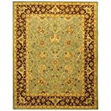 Safavieh Antiquity Collection AT21H Handmade Traditional Oriental Premium Wool Area Rug, 8'3' x 11', Green / Brown
