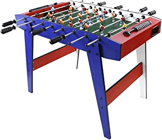 Foosball Tables Eight Shot Table/Child foozeballs Table/fooseballs Table Balls/Soccer Table (Color : Blue, Size : 9050.565cm)