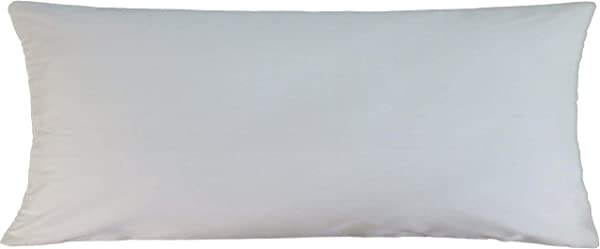 White Pillowcase Lumbar Toddler Cot Bed Pillow Cover 14x36 Inch 35x90 Cm CottonRectangular Pillow Cover ONLY