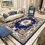 Kunsen alfombras Online decoración habitación niña Dormitorio Alfombra Azul Vintage Rectangular Antideslizante Cuadros Juveniles Dormitorio 200X300CM 6ft 6.7' X9ft 10.1'