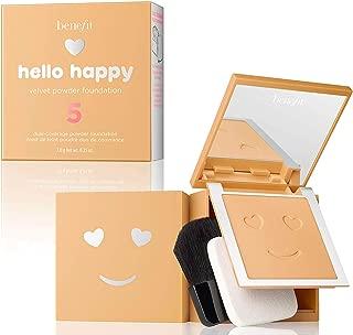 BENEFIT COSMETICS Hello Happy Velvet Powder Foundation Shade 5 Medium Neutral Warm