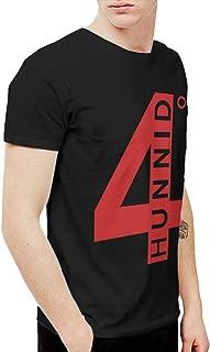 Douglas-A Mens Cool 4hunnid Logo Tshirt and Washed Denim Hat Casquette Black