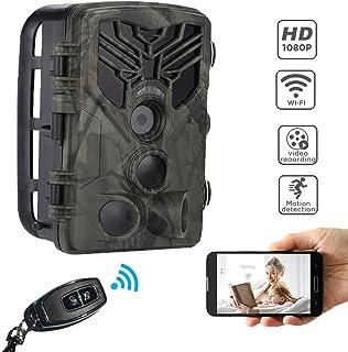 FGKLU App WiFi Cámara de Vida Silvestre con Control Remoto 1080P IP65 Impermeable Cámara de Caza con 0.3s de Velocidad de Disparo para Animales/Seguridad del Hogar