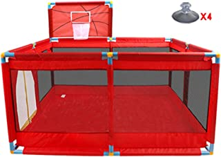 Xuan Yuan Safety Fence, Children's Play Fence, Baby Toddler Crawling Mat Fence, Indoor Household, 128X128X66cm Baby Play Fence (Color : A)
