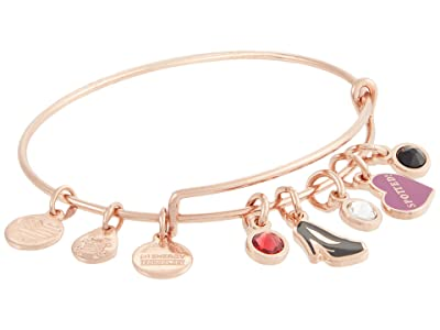 Alex and Ani Gossip Girl, Spotted Multi Charm Bangle Bracelet (Shiny Rose Gold) Bracelet