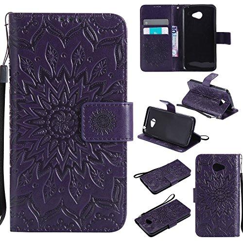 """YYhin Custodia per Cover LG K5(5.3"""")-Custodia Rimovibile per Borsa Magnetica Rimovibile Case Cover(Viola)"""