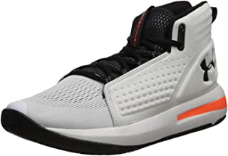 Under Armour Men's Torch Basketball Shoe,  White (105)/Black, 11.5