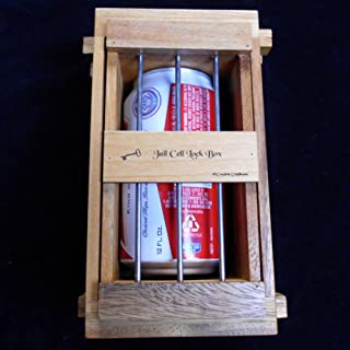 Secret Lock Box III - The Jail Cell Puzzle Box - Holds Beer Can, Many Cell Phones, Gift Card, Etc