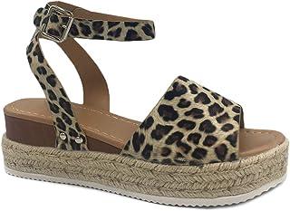 42f37ef5d4b35e Femme Été Rivet Sandales Plates Peep Toe Sandale de Plage Plateforme Suédé  Chaussures