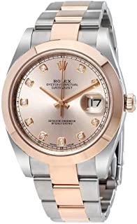Datejust Sundust Diamond Dial Steel and 18K Everose Gold Men's Watch 126301SNDO
