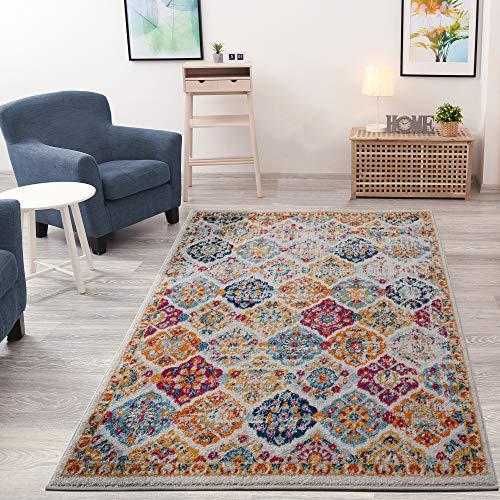 Ottomanson Rixos Collection Area Rug, 5'3' X 7', Cream/Orange