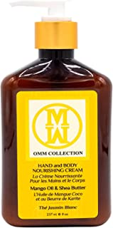 Natural Hand and Body Cream - Organic Rich Hand Nourish Moisturizing Cream - Shea Butter, Mango & Cocoa Butter, For Smoothing -USA Made, Cruelty Free