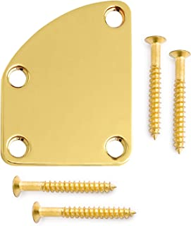 Metallor Electric Guitar Neck Plate Curved Cutaway Semi Round Neck Joint Back Mounting Plate for Stratocaster Telecaster S...