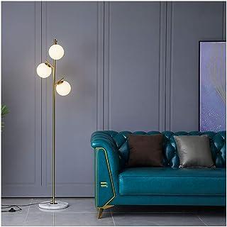 Lámpara LED pie, Creativo y Sencillo Sala de Estar Vertical Dormitorio nórdico mesita de Noche Minimalista Nivel de energía de la luz de Lectura de protecció (Color : Warm Light)