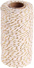 Bakers Twine Cotton String Divine Spool 150 Metres Roll Cord Wedding Party Crafts String Ribbon - White Gold