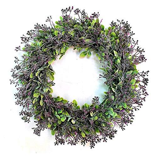 Hibeilinq Artificial Eichhornia Garland, Puerta Decoración Americana Lavanda Perfume de Flores, de Interior y al Aire Libre Ventana Puerta Colgando Boda decoración del hogar Guirnalda Artificial