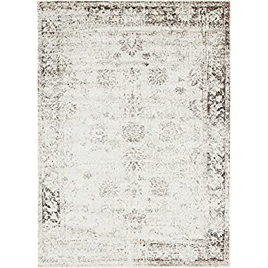Unique Loom Sofia Collection Traditional Vintage Beige Home Décor Area Rug (7' x 10')