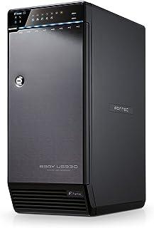 FANTEC Qb X8US3R Externes 8 fach Raid Festplattengehäuse (für 8x 8, 89 cm (3, 5 Zoll) SATA Festplatten, USB 3.0 SuperSpeed und eSATA Anschluss, Raid Funktion (0/5/10/50/Big), 2x 80 mm Lüfter) Schwarz