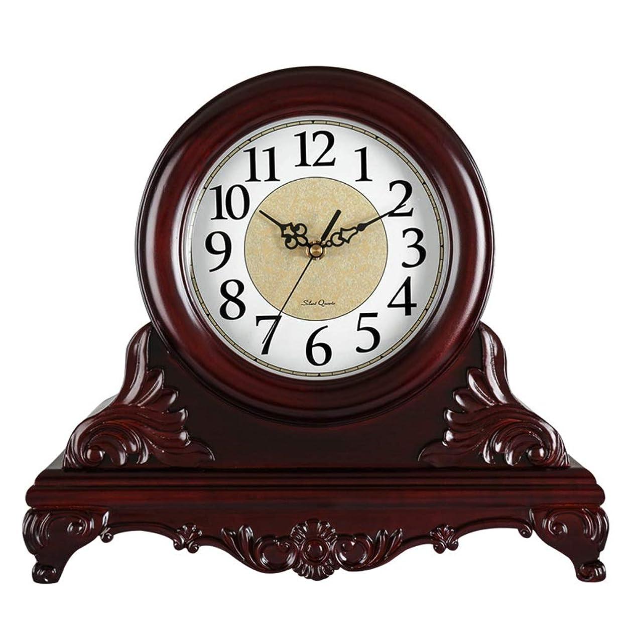 反映する休み巨大WFL クロック リビングルームの寝室のインテリアのためのテーブル時計ヴィンテージデスククロック電池動作非クォーツ時計 最新の (Color : B)