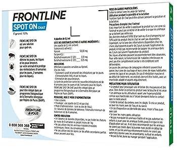FRONTLINE Spot-on Chat - Anti-puces et anti-tiques pour chat - 4 pipettes