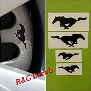 R&G Pony Brake Caliper HIGH TEMP Decal Sticker Set of 4 Decals (Black)