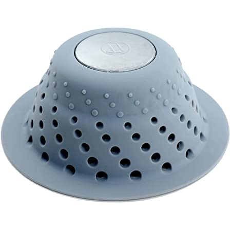 Hairbine Silicone Tub and Shower Hair Catcher for Pop-Up Drains//Made in the USA//Catcher//Strainer//Snare Clear