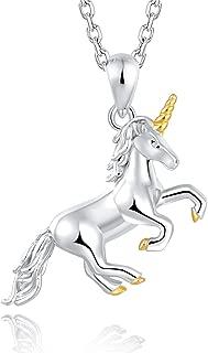 Sterling Silver Unicorn Pendant Necklace Earrings Bracelet For Women Girls Fairytale Unicorn Party Birthday Christmas Gift Jewelry