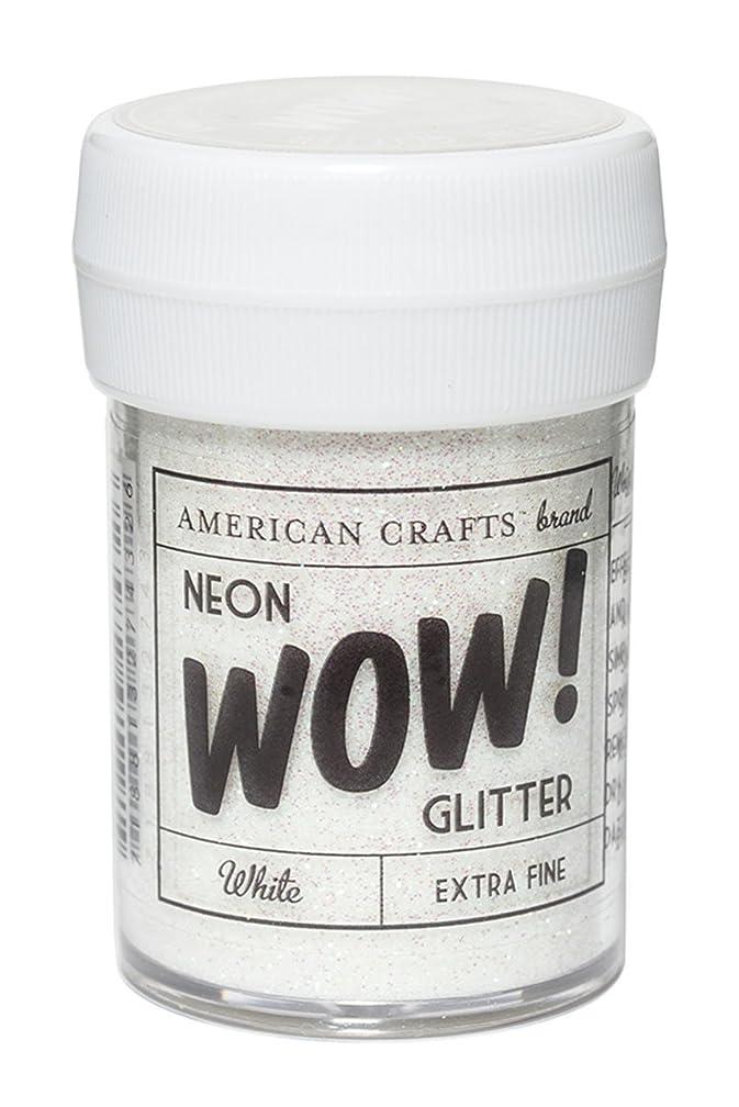American Crafts Glitter- Neon - White