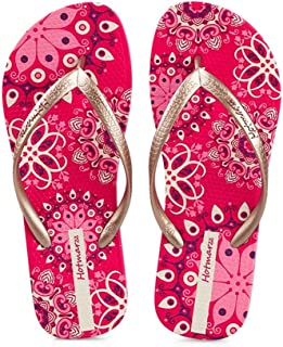 Flip-Flops, Ladies Print Summer Non-Slip Sandals   Seaside Beach Flat Slippers Havaiana   Soft and Comfortable, Size 35-42