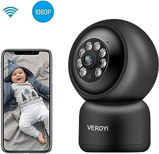 Cámara de Seguridad para el hogar Veroyi cámara IP de vigilancia WiFi 1080P con Audio de 2 vías detección de Movimiento visión Nocturna a Todo Color Compatible con teléfonos iOS y Android