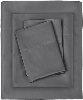 Sleep Philosophy SHET20-874 300TC Liquid Cotton Sheet Set Full Grey