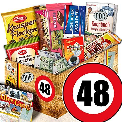 Geschenk 48. Geburtstag / Ostprodukte Schoki / 48 Geburtstag Geschenke Mann