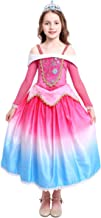Princess Aurora Dress for Girls Party Dress up Halloween Costume Birthday Pageant Long Gown Sleeping Beauty Cosplay
